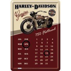 Calendar metalic de birou Harley-Davidson Flathead(10/14cm)