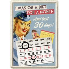 Calendar metalic de birou I was on a diet(10/14cm)
