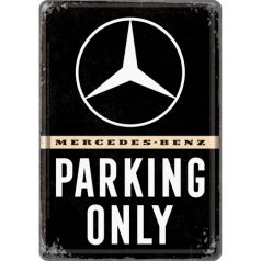 Carte postala metalica 10x14 Mercedes-Benz Parking Only
