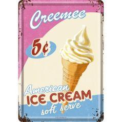 Carte postala metalica American Ice Cream