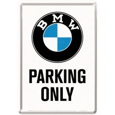 Carte postala metalica BMW - Parking Only