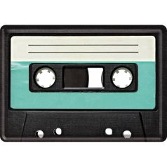 Carte postala metalica Cassette Tape