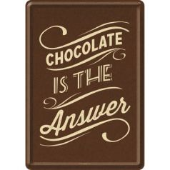 Carte postala metalica Chocolate is the Answer
