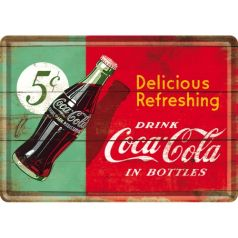 Carte postala metalica Coca-Cola Delicious Refreshing Green