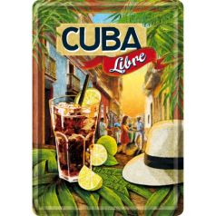 Carte postala metalica Cuba Libre