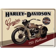 Carte postala metalica Harley-Davidson Flathead