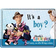 Carte postala metalica It's a Boy?