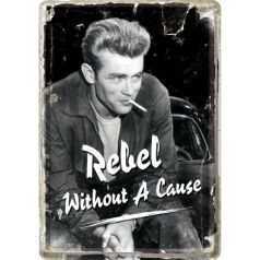 Carte postala metalica James Dean - rebel fara cauza