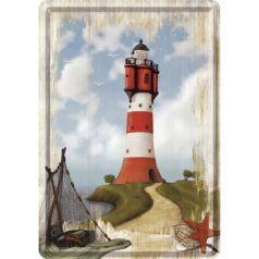 Carte postala metalica Lighthouse