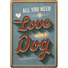 Carte Postala metalica Love Dog