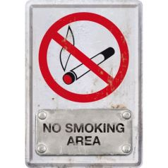 Carte postala metalica No Smoking