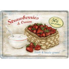 Carte postala metalica Strawberries and Cream