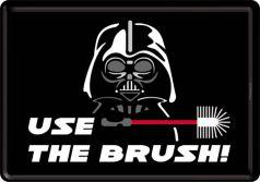 Carte postala metalica Use The Brush