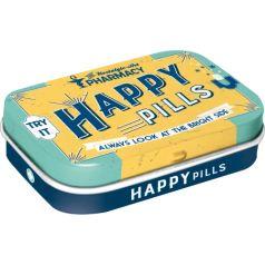 Cutie metalica de buzunar Happy Pills