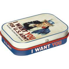 Cutie metalica de buzunar I want you for U.S. Army