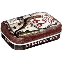 Cutie metalica de buzunar Route 66 Survival Kit