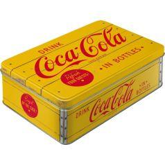 Cutie metalica plata Coca-Cola - Logo Yellow