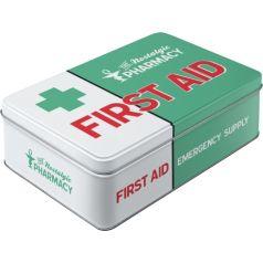 Cutie metalica plata First Aid Green