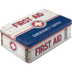 Cutie metalica plata First Aid II