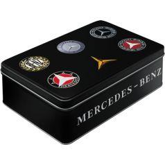 Cutie metalica plata Mercedes-Benz logo evolution