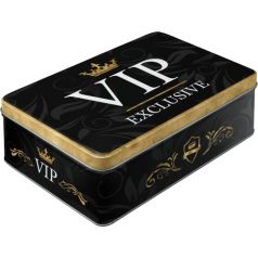 Cutie metalica plata VIP Exclusive