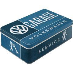 Cutie metalica plata VW Garage
