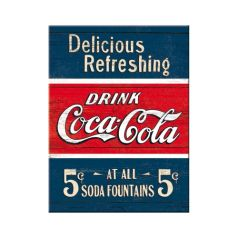 Magnet Coca-Cola - Delicious Refreshing Blue