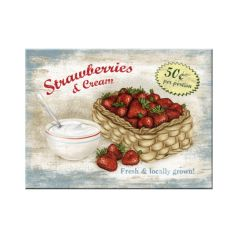 Magnet Strawberries and Cream