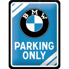 Placa metalica 15X20 BMW - Parking Only Blue