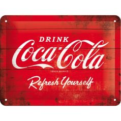 Placa metalica 15X20 Coca-Cola - Red Refresh yourself