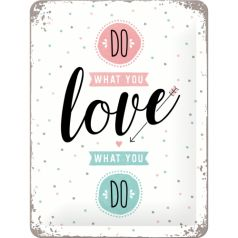 Placa metalica 15X20 Do what you love