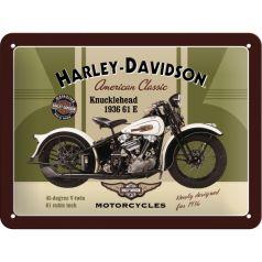 Placa metalica 15X20 Harley-Davidson Knucklehead