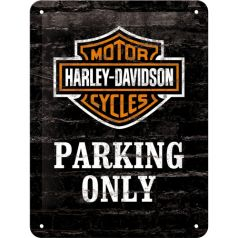 Placa metalica 15X20 Harley-Davidson Parking Only