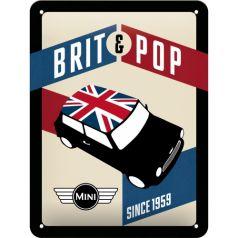 Placa metalica 15X20 Mini-Brit&Pop