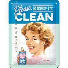 Placa metalica 15X20 Please, Keep it Clean