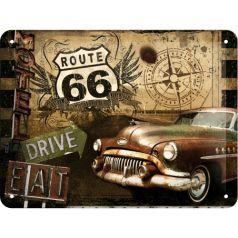Placa metalica 15X20 Route 66 - Motel