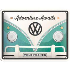 Placa metalica 15x20 VW - Volkswagen Adventure
