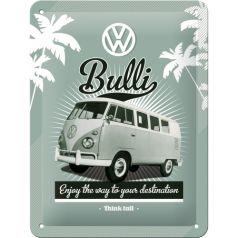Placa metalica 15X20 VW Retro Bulli