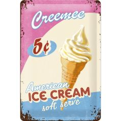 Placa metalica 20X30 American Ice Cream