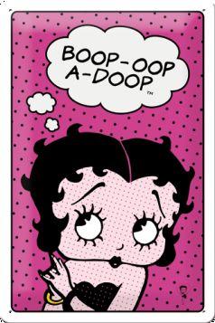 Placa metalica 20X30 Betty Boop - Woop - a - Doop