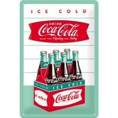 Placa metalica 20X30 Coca-Cola - Diner Sixpack