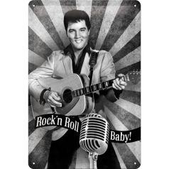 Placa metalica 20X30 Elvis Presley - Rock 'n Roll, Baby