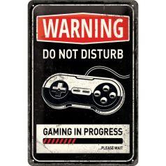 Placa metalica 20x30 Gaming in progress