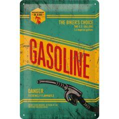 Placa metalica 20X30 Gasoline