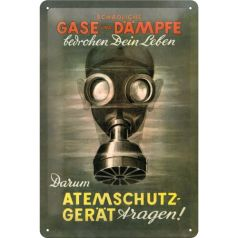 Placa metalica 20X30 Giftige Gase - Gaze toxice