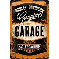 Placa metalica 20X30 Harley-Davidson Garage