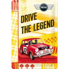 Placa metalica 20x30 Mini - Drive The Legend