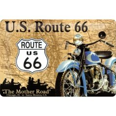 Placa metalica 20X30 Route 66