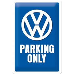 Placa metalica 20x30 VW Parking Only