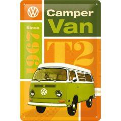 Placa metalica 20x30 VW T2 Camper Van